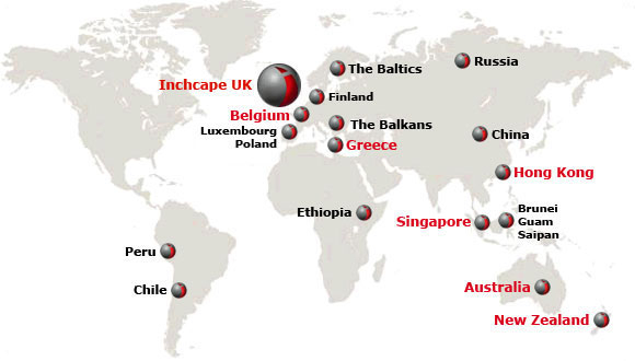 Inchcape Global Map